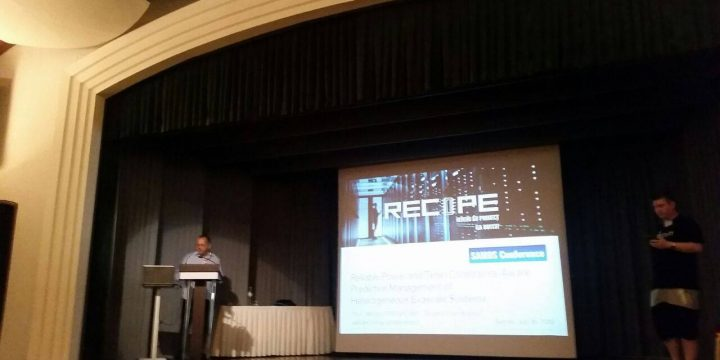 RECIPE presented at the SAMOS XVIII Conference